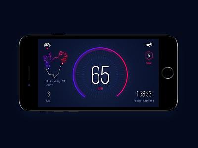 MotoHabit Speedo speedometer nav minimal app ux ui clean motorcycle ios