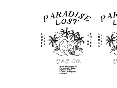 Paradise Lost hand crafted skull clothing tattoo hand lettering typography vintage illustration vector greenhouse