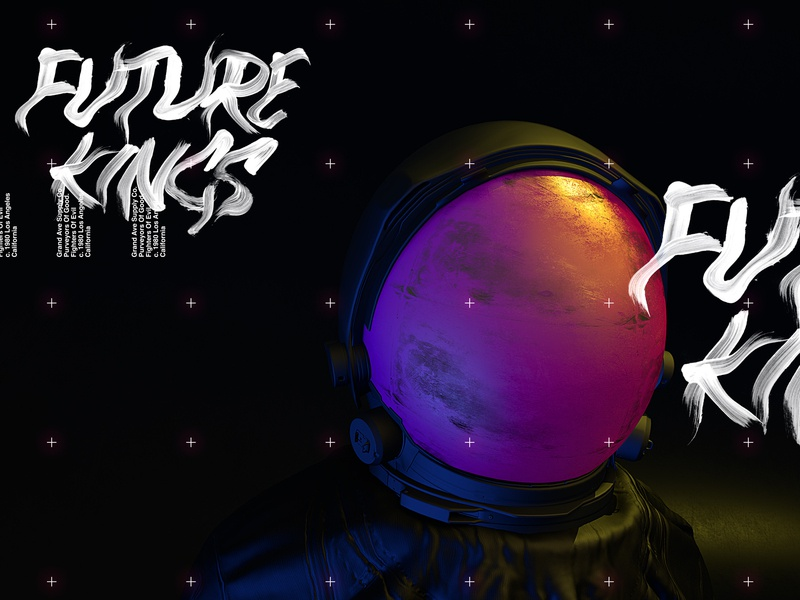 Future Kings ~ Astro Series Part I. web space concept 3d typography illustration logo greenhouse design