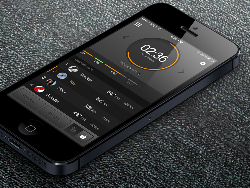 Interval Running App ios app mobile iphone circle running sport mobile app apps