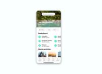 DAILY UI 019 - LEADERBOARD product design travel app travel leaderboard 019 minimal app design ux ui design ui dailyui