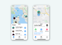 DAILY UI 020 - LOCATION TRACKER map location location tracker 020 minimal app design ux ui design ui dailyui