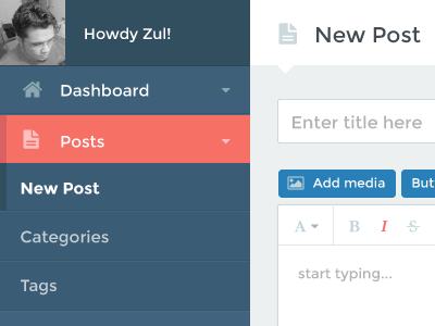 New Post page design post bootstrapstyler blog nav menu dashboard admin