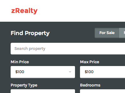zRealty: Property Listing - Home page property business bootstrap real estate home page clean modern orange