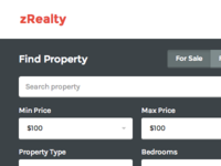 zRealty: Property Listing - Home page