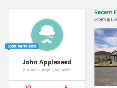 zRealty: Property Listing - User Profile orange modern clean user user profile real estate bootstrap business property