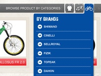 Category Tabs - Bike Site