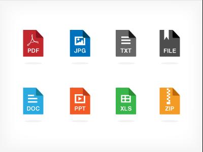 Filetypes filetype icon file file type set