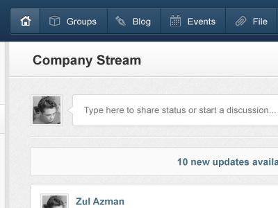 Stream Status stream activity status blue activity stream activities