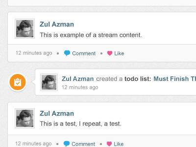 Stream type Todo List stream activity todo activity stream activities todo list