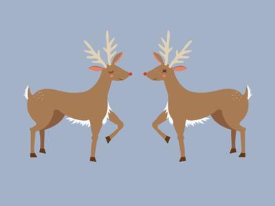 Reindeer in October