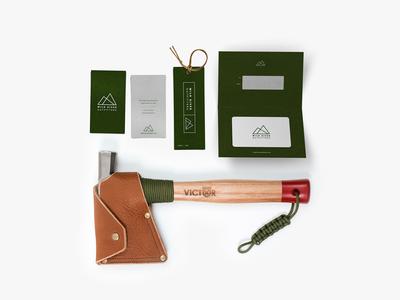 Wild River Outfitters Branding 2legit2quit logos mountains hatchet outdoors logo branding