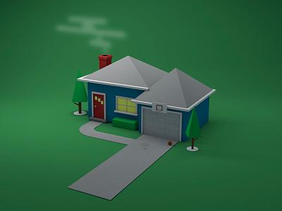 House 3d robot c4d cinema 4d