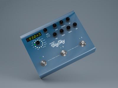 Strymon Big Sky guitar effects guitar pedal guitars physical render 3d modeling cinema 4d c4d 3d