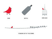 Bird and the Bottle Illustrations