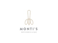 Monti's Rotisserie and Bar Logo Concept 1