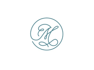 Monti's Rotisserie and Bar Logo Concept 3 logo single line elegant loop monogram m drinks bar rotisserie montis