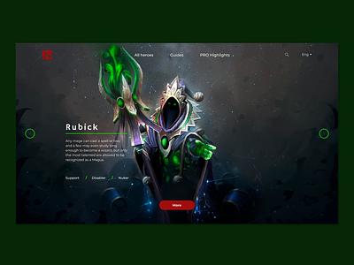 Rubick Dota 2 rubick dotart dota2 dota web ux ui photoshop figma design