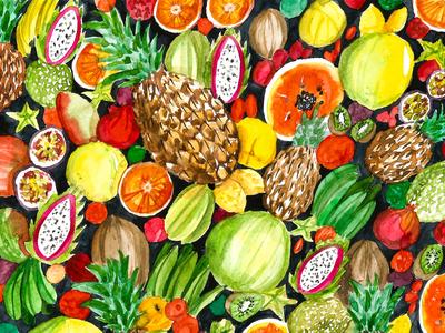 Watercolor Tropical Mix