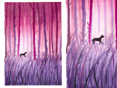 Watercolor deep woods