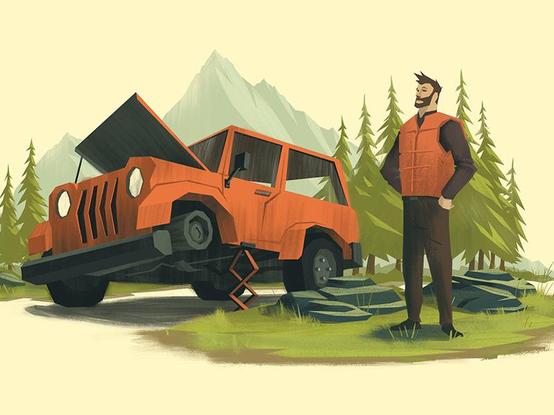 Auto Shots 1 car jeep outdoors illustration ocs orlin culture shop