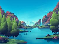 Discovery Lake ocs orlin culture shop nature advertising adventure exploring illustration outdoors lake