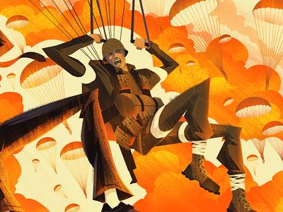 Hemispheres Magazine editorial hemispheres magazine war ww2 paratrooper ocs orlin culture shop