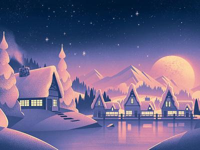Beekman 1802 Village seasonal holiday christmas outdoors illustration vintage retro orlin culture shop ocs