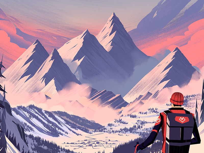 every mountain alpine by brian edward miller dribbble