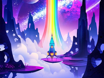 Lucky Charms Poster brian edward miller orlin culture shop ocs exploration galaxy spacex scifi space adventure illustration vintage retro
