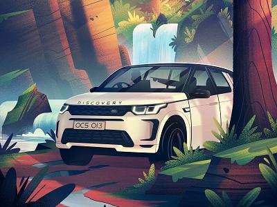Land Rover: Forest Adventure adventure cars automotive land rover campaign advertising outdoors illustration vintage retro orlin culture shop