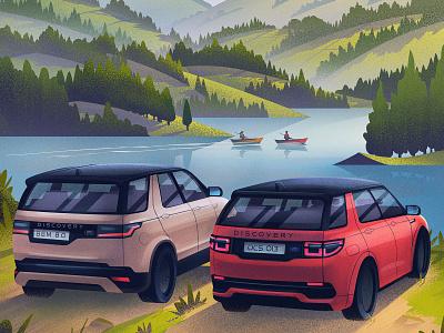 Land Rover: Countryside Adventure advertising adventure automobile automotive outdoors illustration vintage retro orlin culture shop ocs