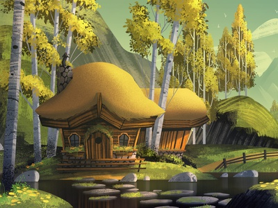 Hiraeth Lodge orlin culture shop illustration background design background painting animation fantasy mountains outdoors lodge
