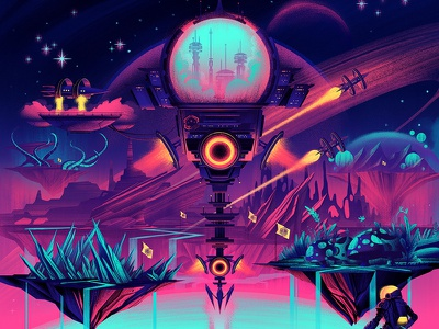 Space! space retro vintage ocs orlin culture shop board game