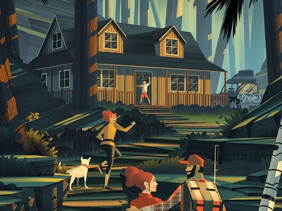 Tuff Shed · Family Vacation family cabin wilderness outdoors illustration orlin culture shop ocs tuff shed
