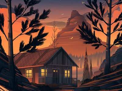 Tuff Shed · Couples Retreat family cabin wilderness outdoors illustration orlin culture shop ocs tuff shed