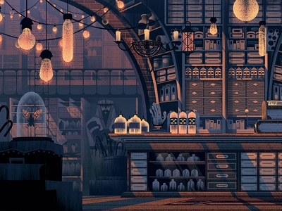 Bemocs Naissance Dribbble 01 orlin culture shop ocs retro vintage family horror backgrounds illustration animation