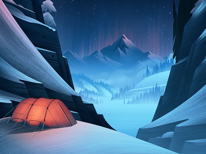 REI January Clearance camping winter nature digital art illustration orlin culture shop ocs outdoors rei