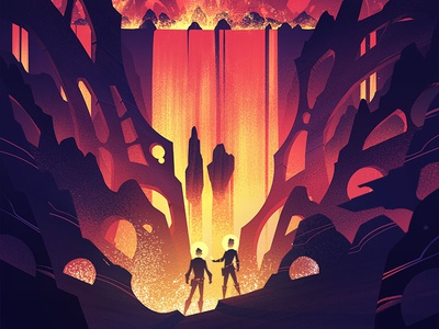 Space Park: Fusion Falls illustration retro vintage ocs art board game adventure space