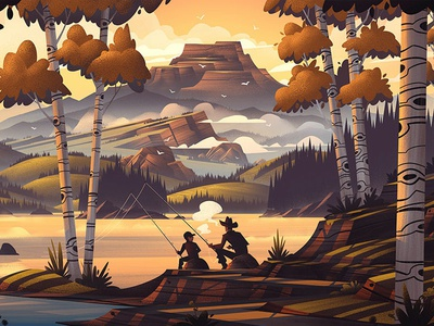 Fishers Peak Limited Edition Print legacy colorado landscape outdoors fishing retro vintage brian edward miller orlin culture shop ocs poster print