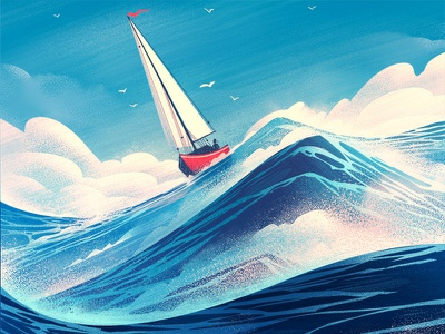 Geneseo Magazine ocean editorial adventure outdoors illustration retro vintage orlin culture shop ocs sailing