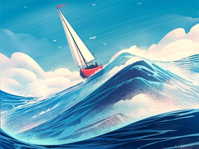 Geneseo Magazine ocean editorial adventure outdoors illustration retro vintage orlin culture shop ocs sailing