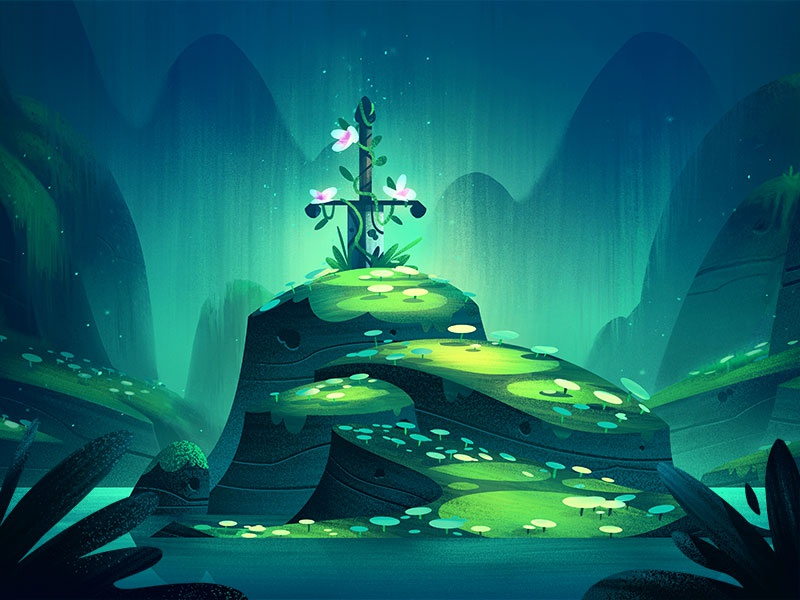 Stone Sword Background fantasy adventure brian edward miller nature outdoors illustration orlin culture shop ocs background painting background art animation