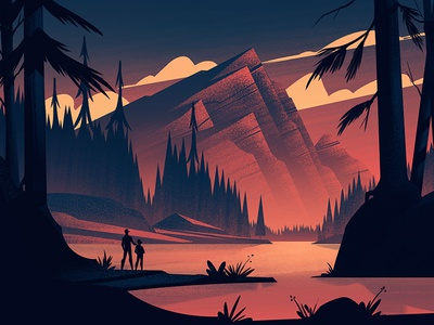 Lake of Light adventure brian edward miller nature mountains outdoors illustration vintage retro orlin culture shop ocs
