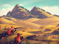 Field & Stream adventure brian edward miller nature mountains outdoors illustration vintage retro orlin culture shop ocs