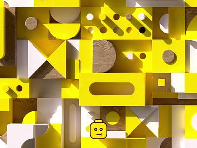 LEGO X CARDS construktor legoman wood simple toys cards 3d lego logo illustration design gif typography shape animation motion flat 2d