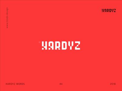 HARDYZ WORDS hardyz future technologies business tetris branding identity logo typeface minimal font type shape typography animation flat motion 2d