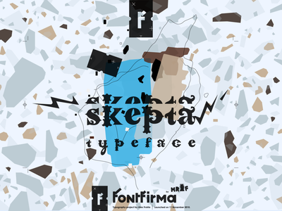 Skepta Typeface letters minimal type gif typography shape animation motion flat 2d