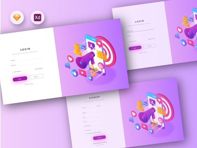 Marketing Agency Login Page Concept