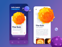 Learning app concept (UI Practice 02)